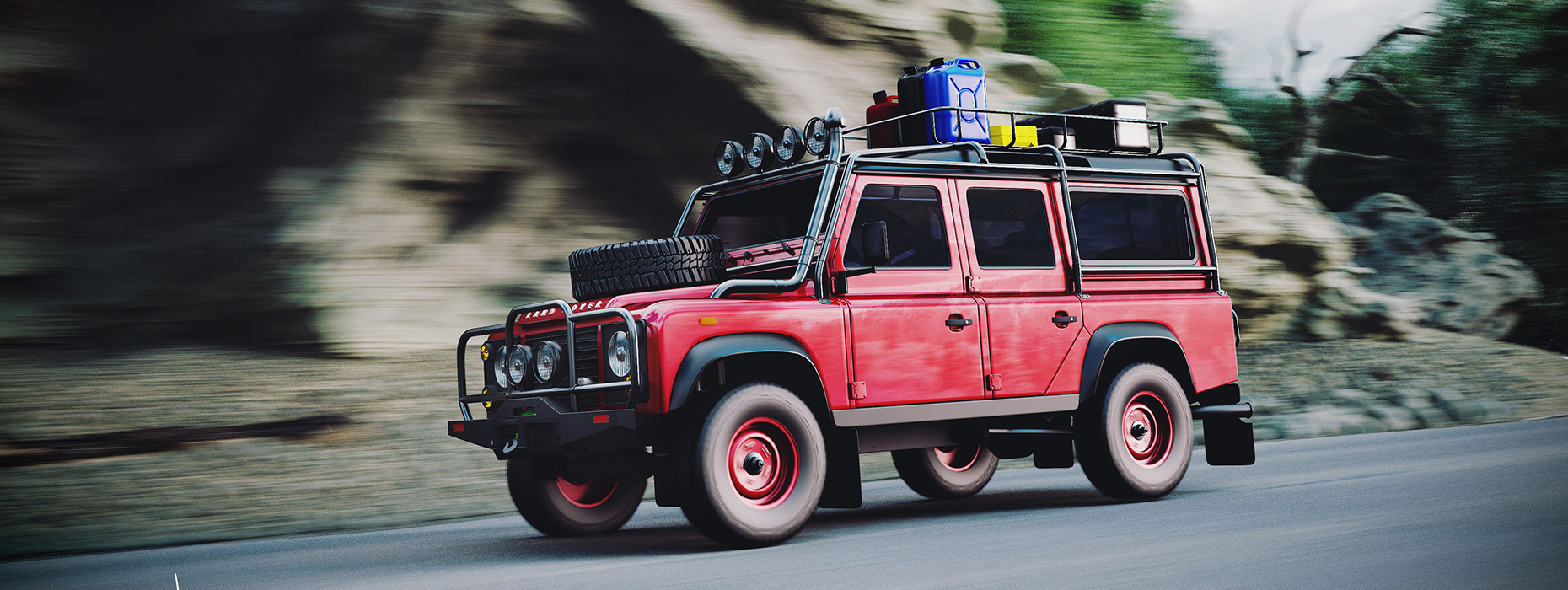 3D modeling and Rendering Land Rover Defender Expedition