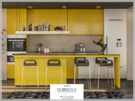Project CUBOIDEA Kitchen 3D Modeling and CGI/Render