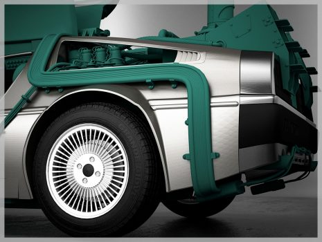 """3D Modeling Project Delorean """"Back to the Future"""""""