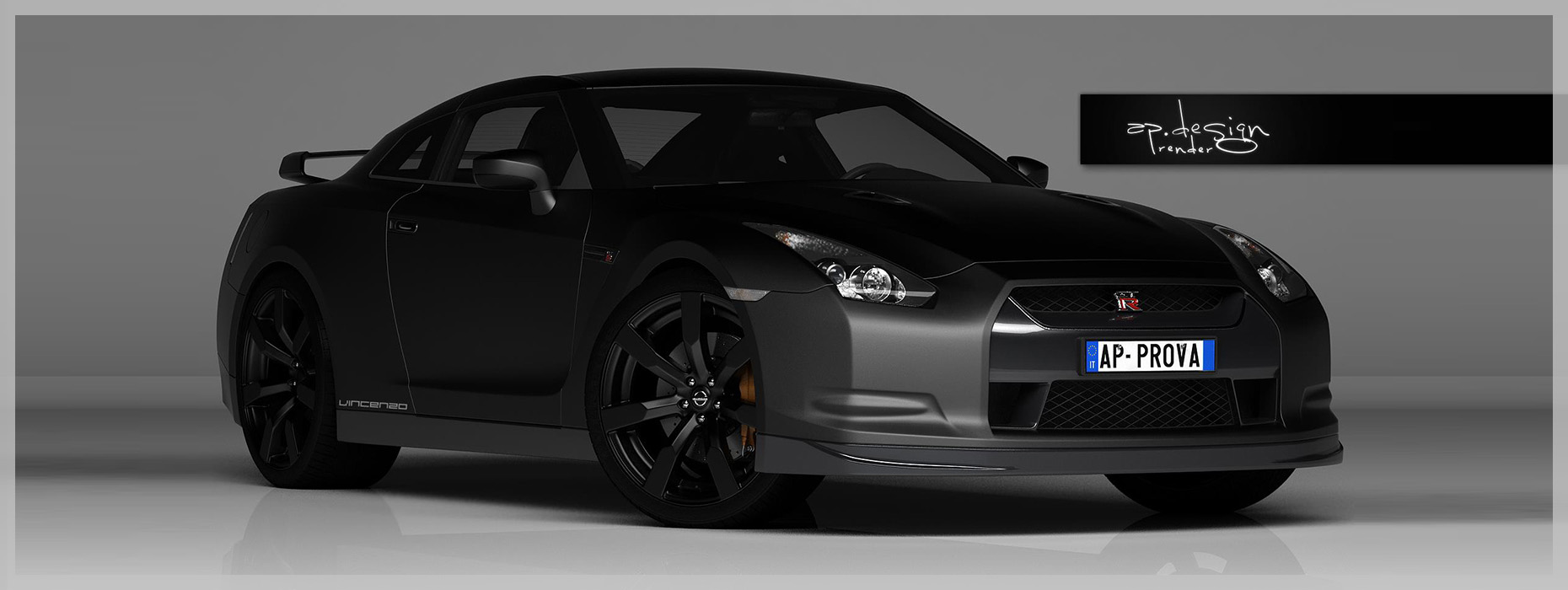 3D Modeling and Render Nissan Skyline GT-R